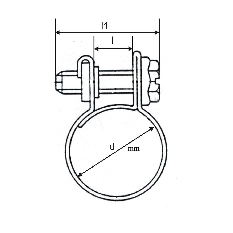 10-12mm 10 x Mini Carburante Linea Jubilee Tubo Clip Morsetti Diesel Benzina Tubo Refrigerante Radiatore