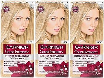 3 x Garnier color intensidad de color 10.1 Rubio – Tinte ...