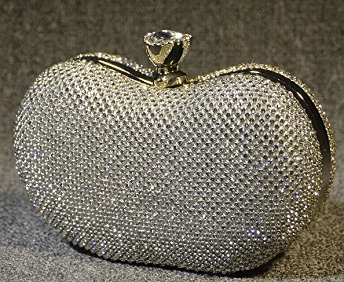 Peacock Cena del bolso del bolso de la novia Bolsa Conjunto elegante Auger Sra mini bolso-32533 Plata