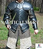 SCA combat armor, Brienne of Tarth armor suit. 16ga steel blackened Halloween