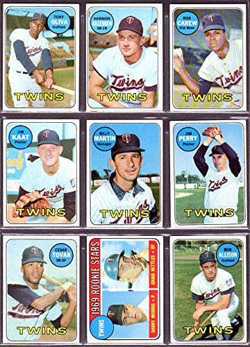 fan products of Minnesota Twins 1969 Topps Team Set (24 Cards) (Western Division Champions) BOLD COLOR , Sharp!! (Harmon Killebrew) (Rod Carew) (Tony Oliva) (Jim Kaat) (Billy Martin) (Jim Perry) (Cesar Tovar) (Graig Nettles Rookie) (Bob Allison) and More