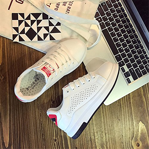 Slip Loafers Red Comfort Women Flats Shoes Canvas On fgHxg1