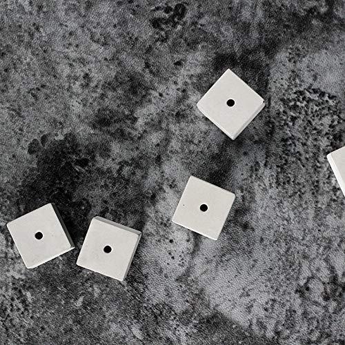 Cemento Block - Soporte de silicona para joyas, diseño de cubo de 6 cavidades con un molde de enchufe, hecho a mano: Amazon.es: Juguetes y juegos