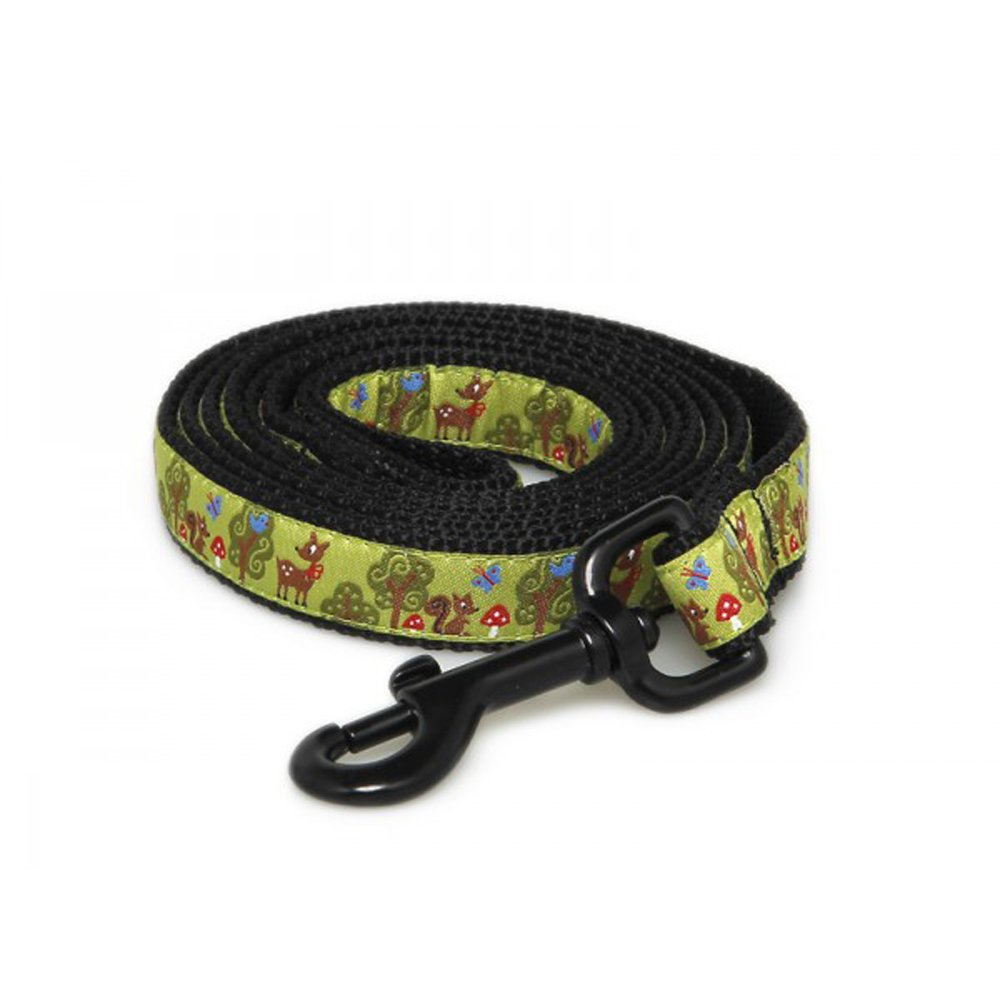 Max & Zoey Nature Dog Leash, 5-Feet, Green