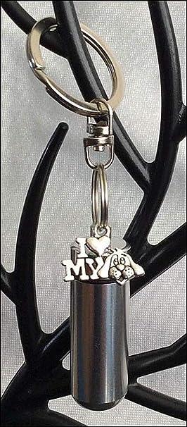 KGS - Urna para Cenizas de cremación Personal con Texto en inglés I Love My Dog Charm, Bolsa de joyería y Kit de llenado: Amazon.es: Productos para mascotas