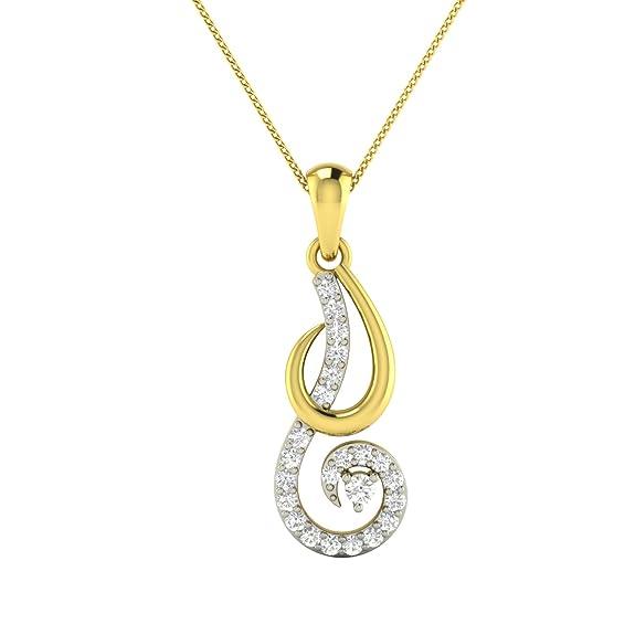 WHP Jewellers 18KT Yellow Gold and Diamond Pendant Women
