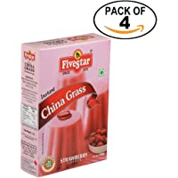 Instant China Grass Mix Strawberry 100g Box, Pack of 4