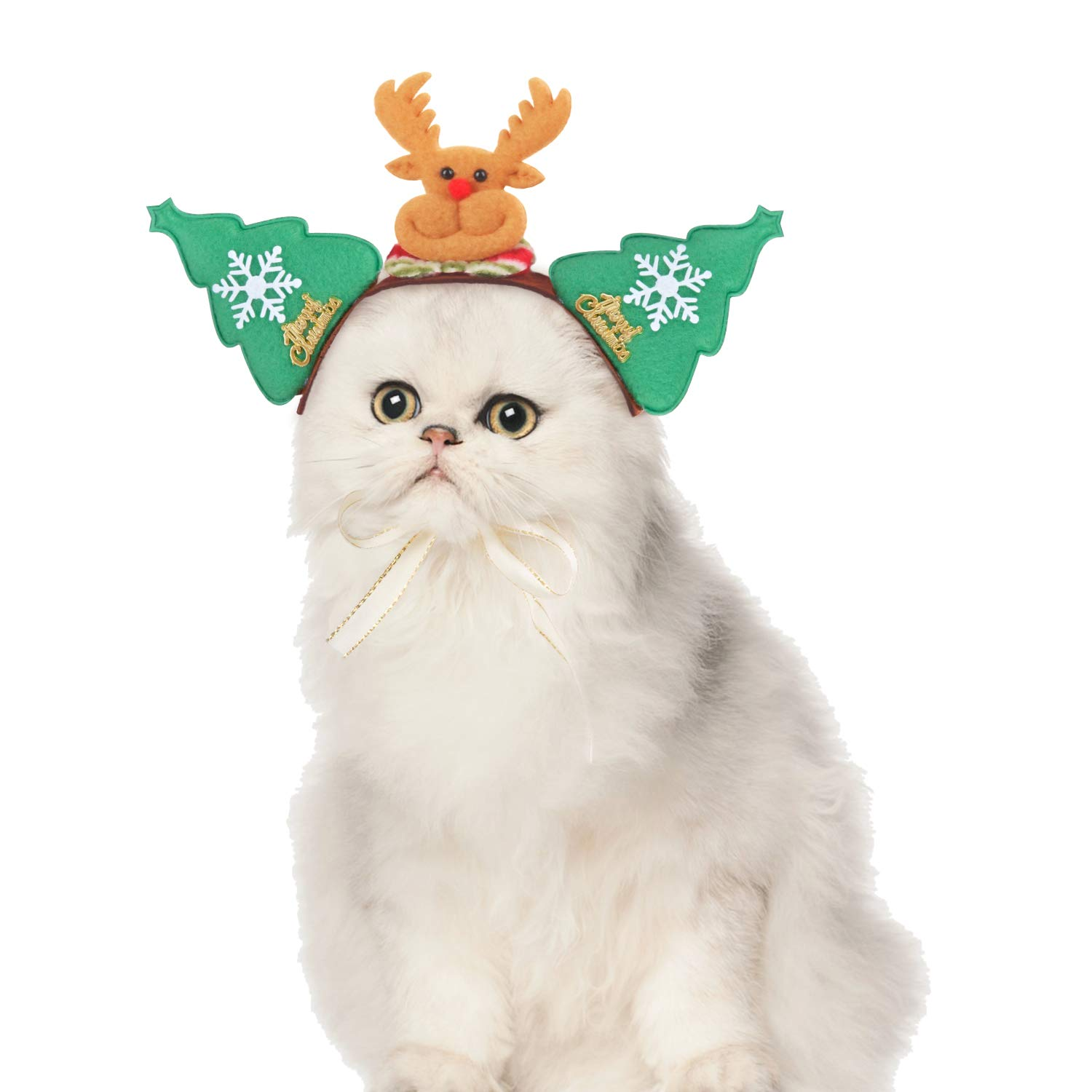 Fansport Christmas Pet Costume Creative Pet Headband Pet Hair Hoop for Puppies Kittens