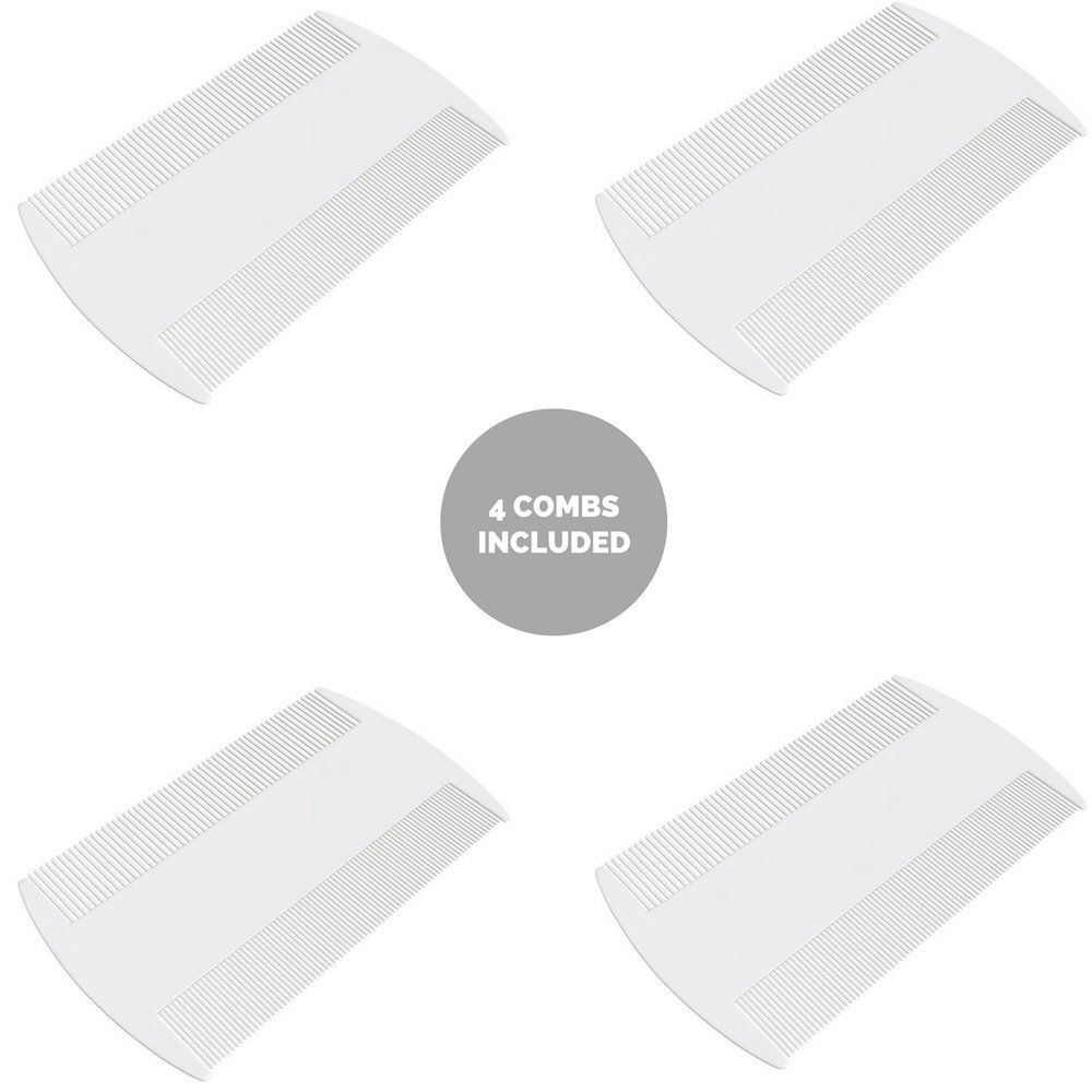 Lice Comb Nit Comb Head Treatment Suitable for Kids and Pets - 4 Pack Tarot Health