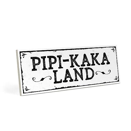 ARTFAVES Cartel de Madera, diseño con Texto - Pipi de Kaka ...