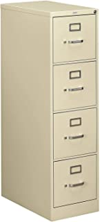 "product image for Hon 510 Series Ltr-size 4-drawer Vert. File w/Lock-4-Drawer Letter File, Vertical, 15""x25""x52"", Light Gray"