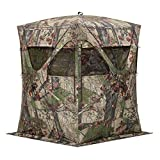 Barronett Big Mike Ground Hunting Blind, 2 Person Pop Up Portable, Backwoods Camo
