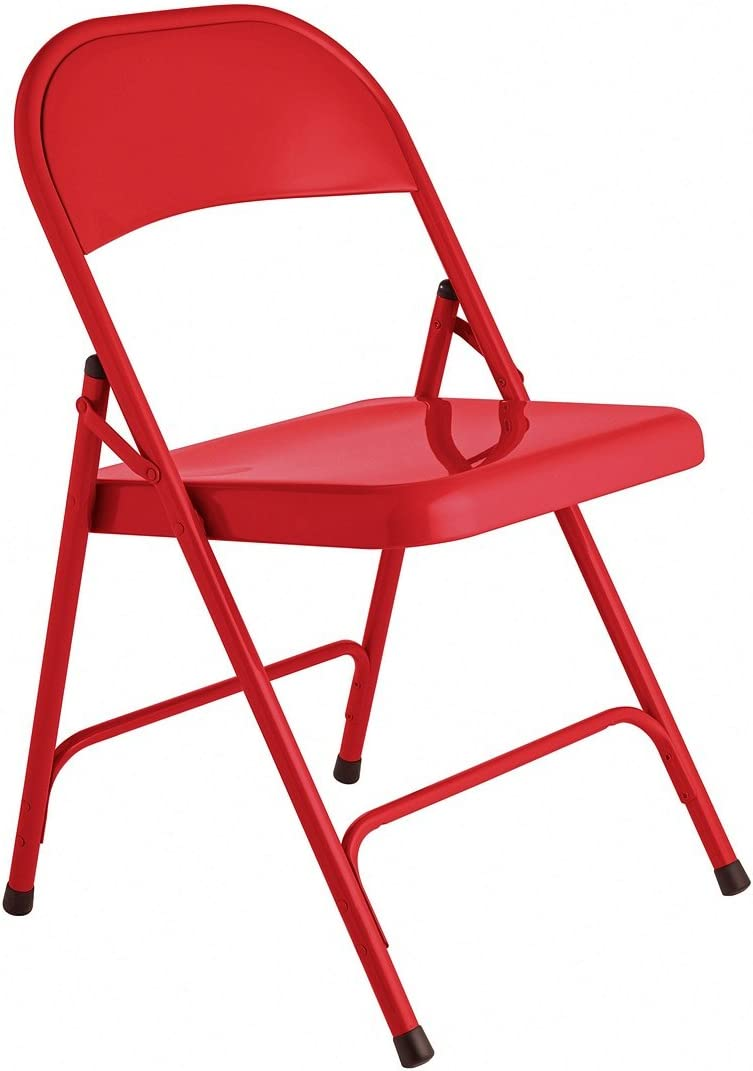 Habitat Macadam Red Metal Folding Chair (also available in