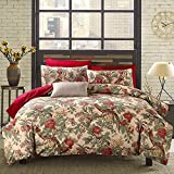 HNNSI Magpie Duvet Cover With Buttons Enclosure, 60s Long Stapled Cotton Luxury American Country Style Home Collections Bedding Sets Full Size (Magpie, Full)