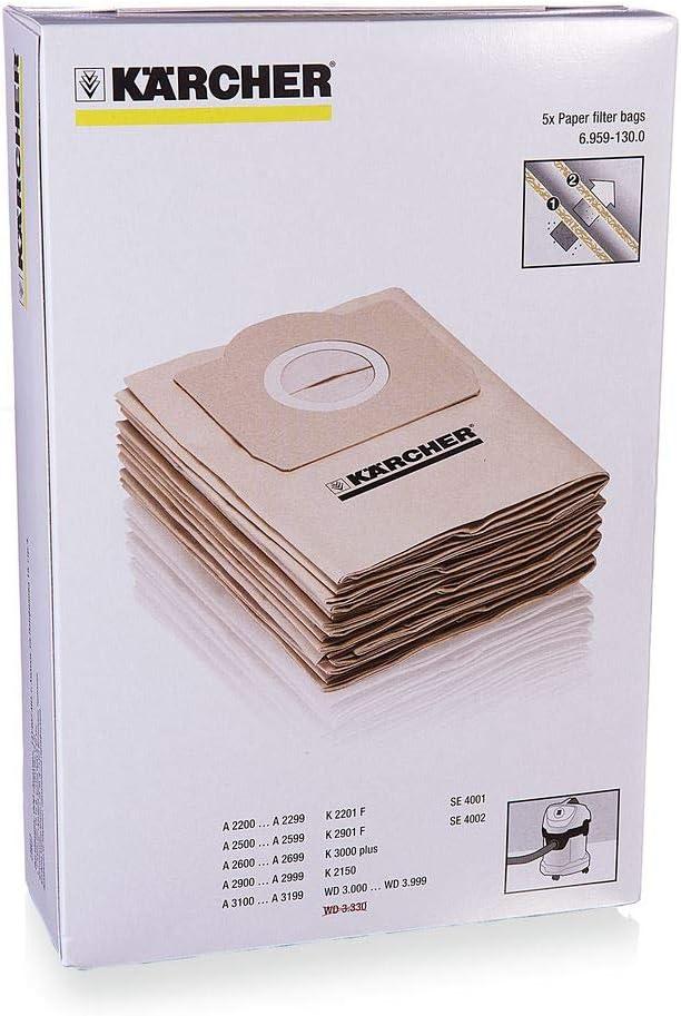 حقيبة فلتر ورقية من كارتشر - 5 قطع - 69591300
