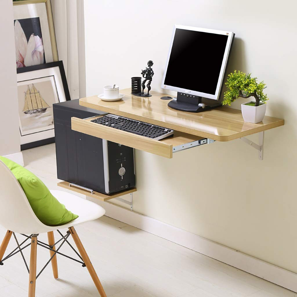 コンピュータデスク ウォールマウントコンピュータテーブルデスク、ホームオフィスデスクコンピュータワークステーション、ホワイト (色 : E, サイズ さいず : 80*40cm) B07K8DST27 80*40cm E E 80*40cm