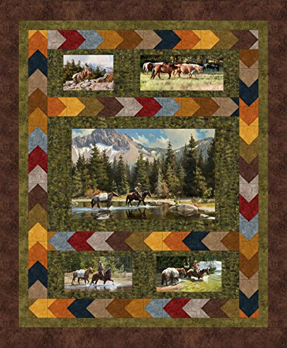 Tom Browning High Country Crossing Quilt Kit Maywood Studio ()
