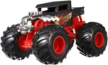 Oferta amazon: Hot Wheels Monster Trucks Vehículo Bone Shaker 1:24, coches de juguetes niños +3 años (Mattel GCX15)