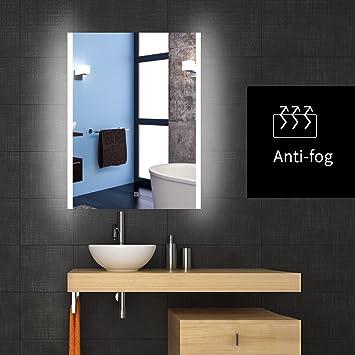 frameless bathroom vanity mirrors. Backlit Lighted LED Bathroom Vanity Mirror Frameless Wall Antifogging Illuminated Rectangle Mirrors