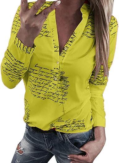 Fossen MuRope Camisa Mujer Talla Grande Botones Abajo ...
