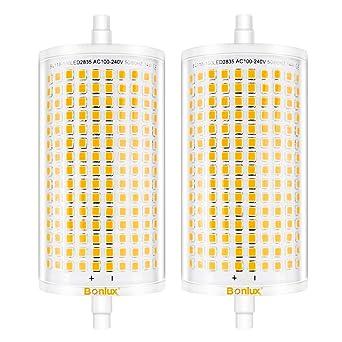 Bonlux 14W Regulable R7S 118MM J118 LED Bombilla con 1600 Lúmenes para Lámpara de Pie (