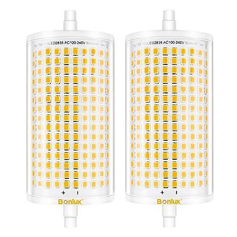 Bonlux 14W Regulable R7S 118MM J118 LED Bombilla con 1600 Lúmenes para Lámpara de Pie (2-Unidades, Luz Fría 6000K)