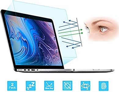 FORITO 2-Pack Eye Protection Anti Blue Light Anti Glare Screen Protector Compatible with 2015-2012 MacBook Pro 15 Inch Retina Model A1398