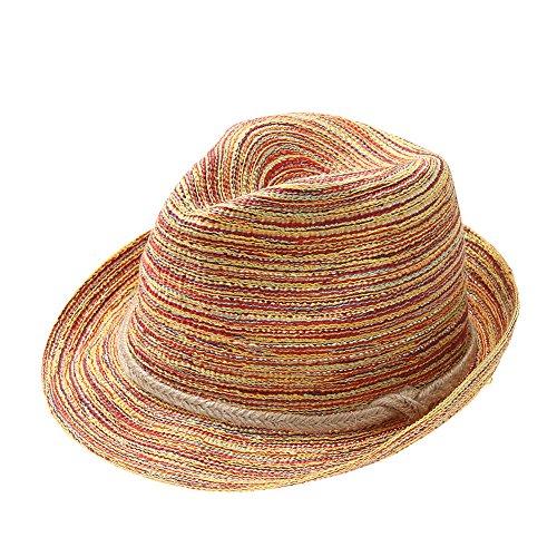 La Cabina Chapeaux Femme Melon en Dentelle - Chapeau Femme été Plage-Chapeau Pliable Anti-soleil - Chapeau de Paille Taille Unique