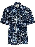 Artisan Outfitters Mens Devocean Batik Cotton Shirt (4XL, Twilight Blue) A0214-17-4XL