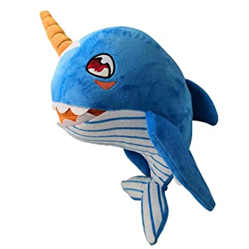 Amazon Com Narwhal Stuffed Animal Toy Foonee Pink Yellow Blue