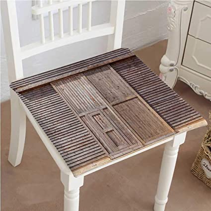 Amazoncom Mikihome Dining Chair Pad Cushion Old Wooden Timber Oak