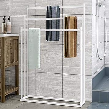Towel Rack Estante para Toallas autoportante Estante para Cuarto de baño Estante para baño Estante de Secado toallero de Cocina: Amazon.es: Hogar