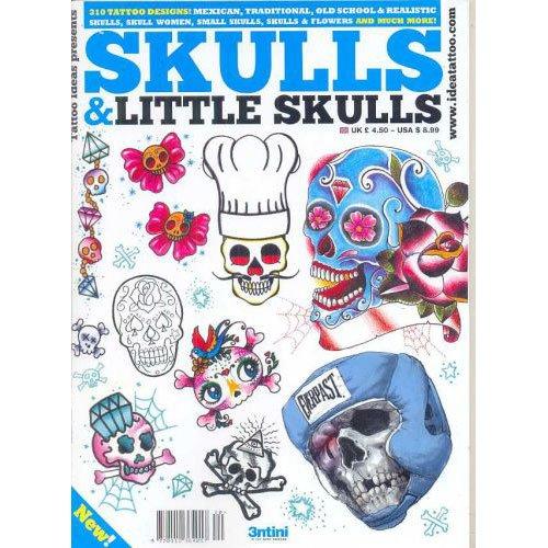 Skulls and Little Skulls Tattoo Illustration / Tattoo Flash Book Books / Tattoo Flash Art from 3tini