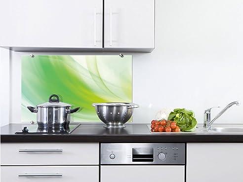 Küchenrückwand aus Glas inkl. Befestigungsmaterial Farbverlauf ...