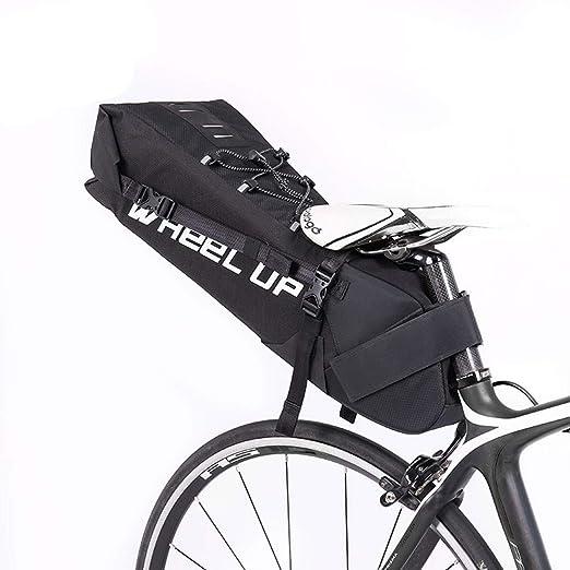 Moto tronco bolsa, Impermeable asiento 10L bicicletas Tija de ...