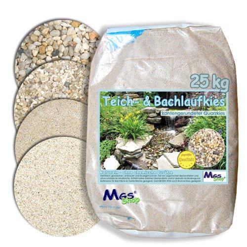 Teich- & Bachlauf - Kies Quarzkies gerundet kalkfrei nährstoffrei DIN 4924 Einbau & Unterbau -fähig 8-12 mm