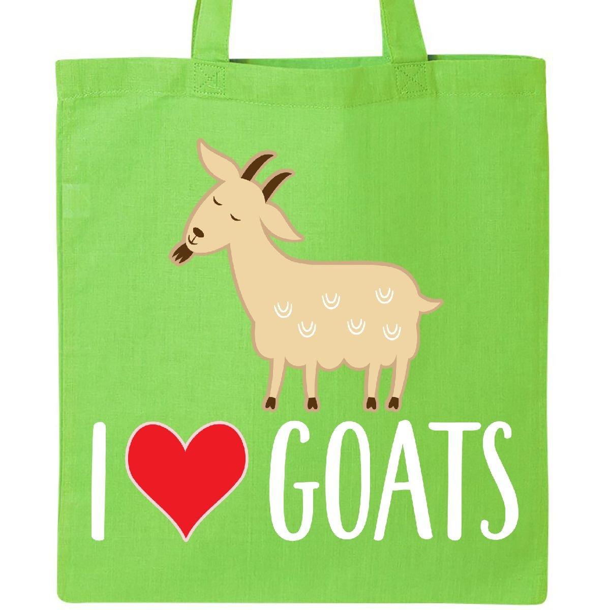 Inktastic Goat Cute I Love Goats Farm Animal Tote Bag Lime Green
