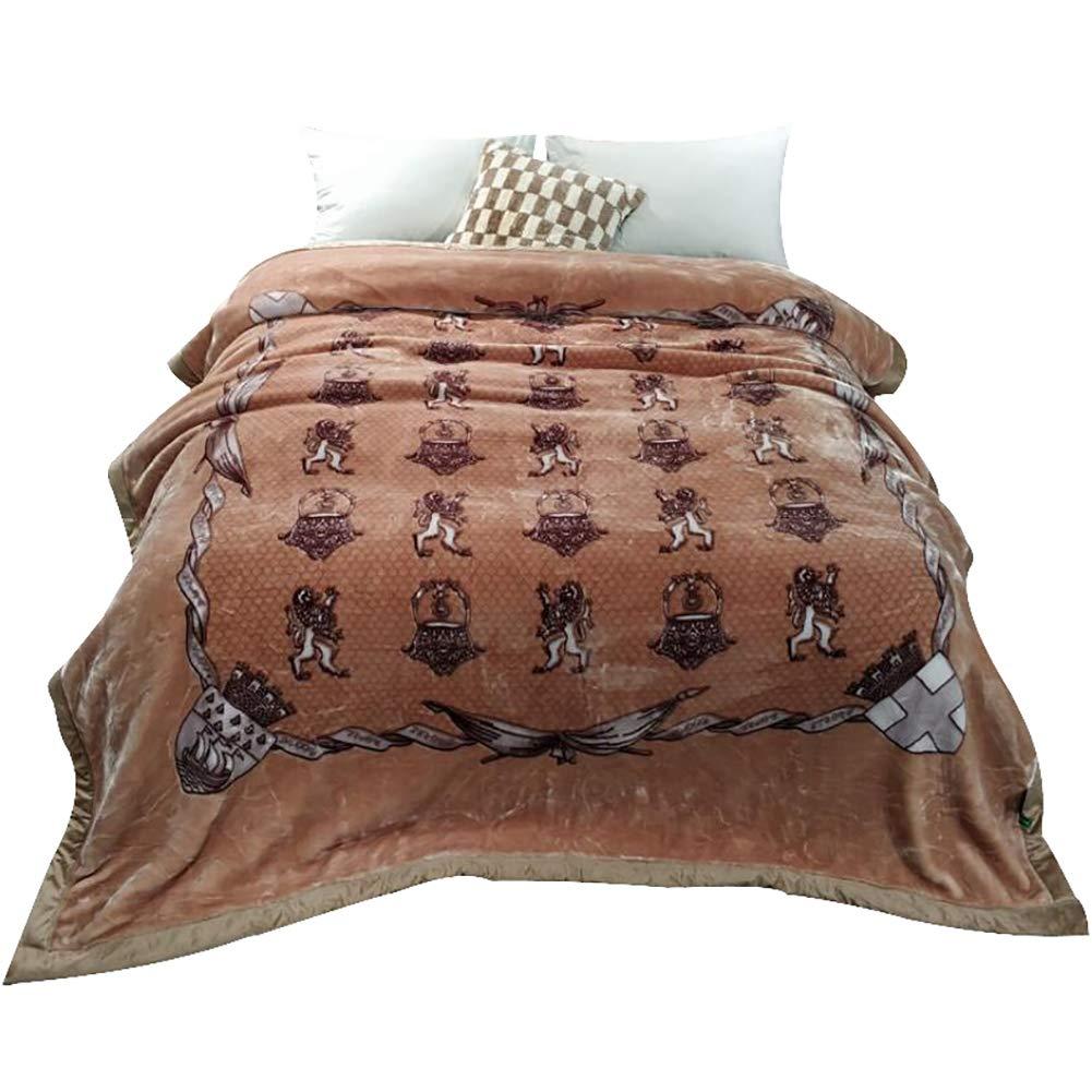 HSBAIS ウォーム毛布 小さい毛布キングサイズ - 赤ちゃん大人向け寝具柔らかい冬毛布厚めの贅沢暖かいシート洗えるラッシェルブランケット,brown_200*230cm, B07K768BX7 Brown 200*230cm,