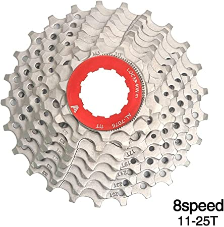 ChenYongPing-Sport Cassette de Bicicleta 8 Velocidades 25T Tarjeta ...