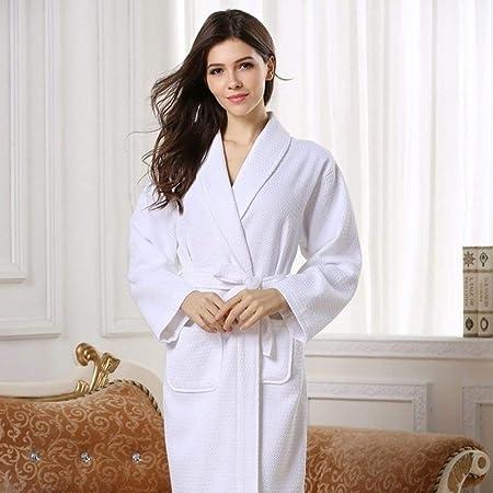XUWLM Albornoz- Albornoz de algodón Mujer Primavera Otoño Largo ...