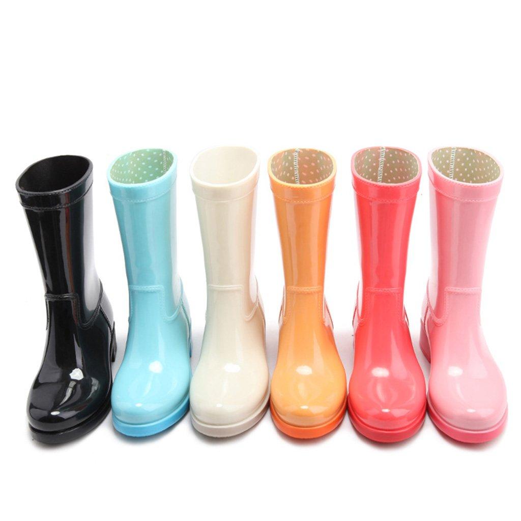 Industrie & Handwerk Frühlings- und Sommerart und weise Weibliches Regenstiefel Wasserstiefel wasserdicht Anti-Beleg Weibliches weise PVC Alle Farben Sind Halbe Größe größer als Normale Größe Gray 8fd965