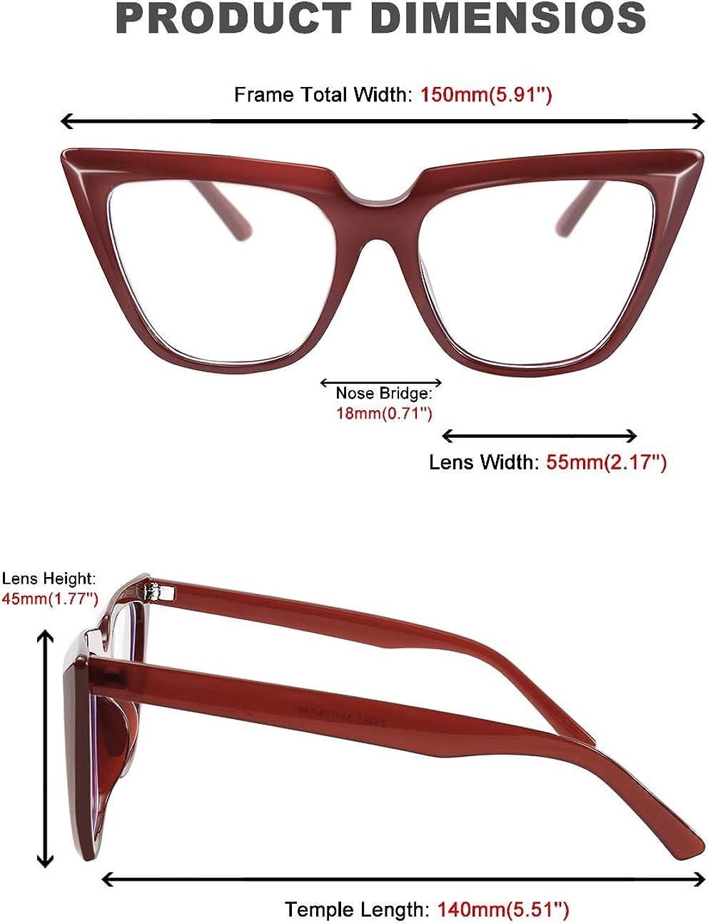 FEISEDY CHIC Cateye Blue Light Blocking Eyewear Glasses with clear Non-prescription Glasses Women B2619