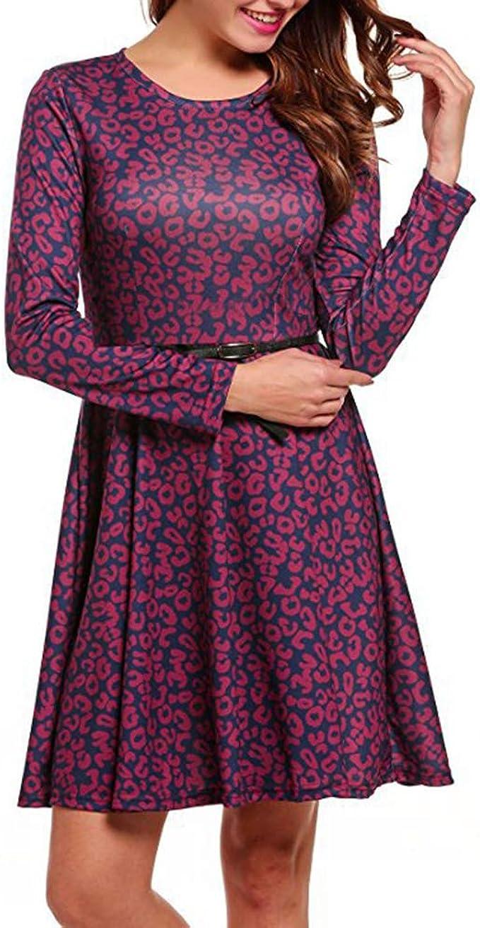 Muzhili14 Knielang Business Kleider Frühling Herbst Casual Frauen
