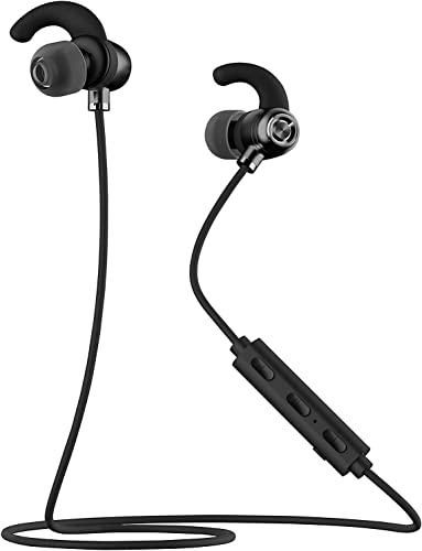 Samsung Galaxy J7 Bluetooth Headset In-Ear Running Earbuds IPX4 Waterproof with Mic Stereo Earphones, CVC 6.0 Noise Cancellation, works with, Apple, Samsung,Google Pixel,LG