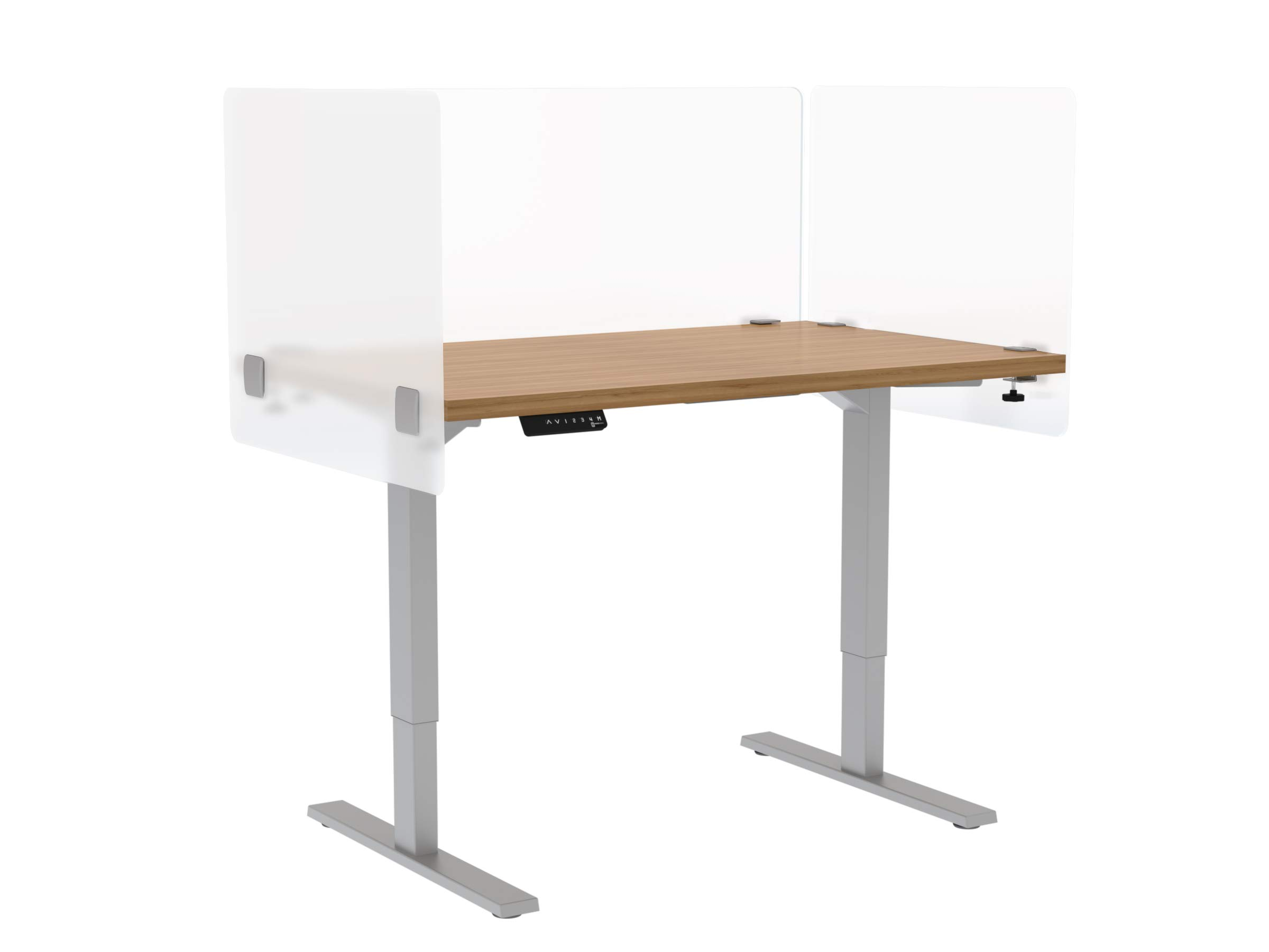 """VaRoom Privacy Partition, Frosted Acrylic Clamp-on Desk Divider – 30"""" W x 24""""H Privacy Desk Mounted Cubicle Panel by VaRoom (Image #3)"""