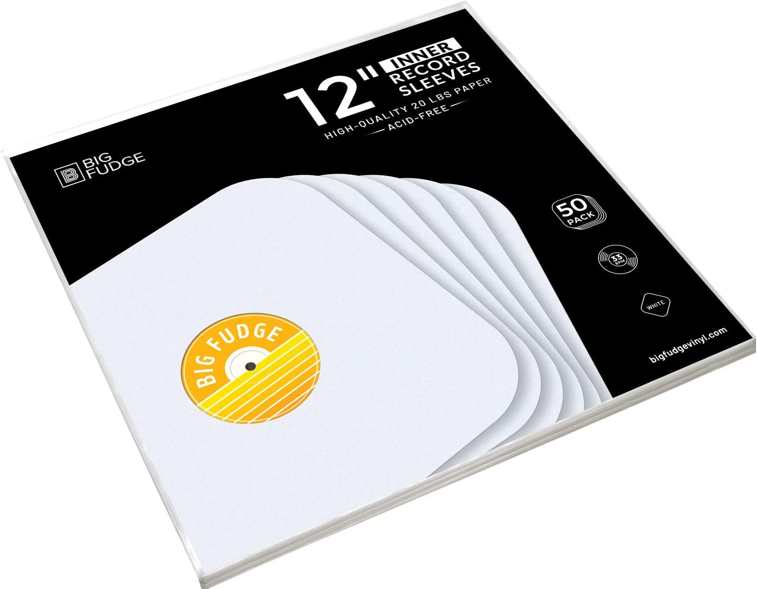 Heavy 20# Weight Paper with Hole for Viewing Label 1000 12 LP//Album White Paper Vinyl Record Sleeves//Protectors