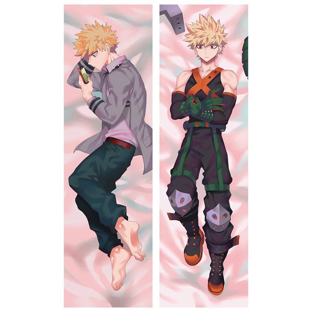 HomMall Anime My Hero Academia Body Pillowcase Peach Skin Double Sided Throw Pillow Case Cushion Cover(5060inch Izuku Midoriyau)