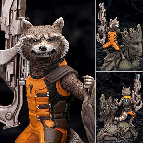 "Guardians of the Galaxy Groot/Rocket Raccoon 13cm/5.2"" PVC Figure New"