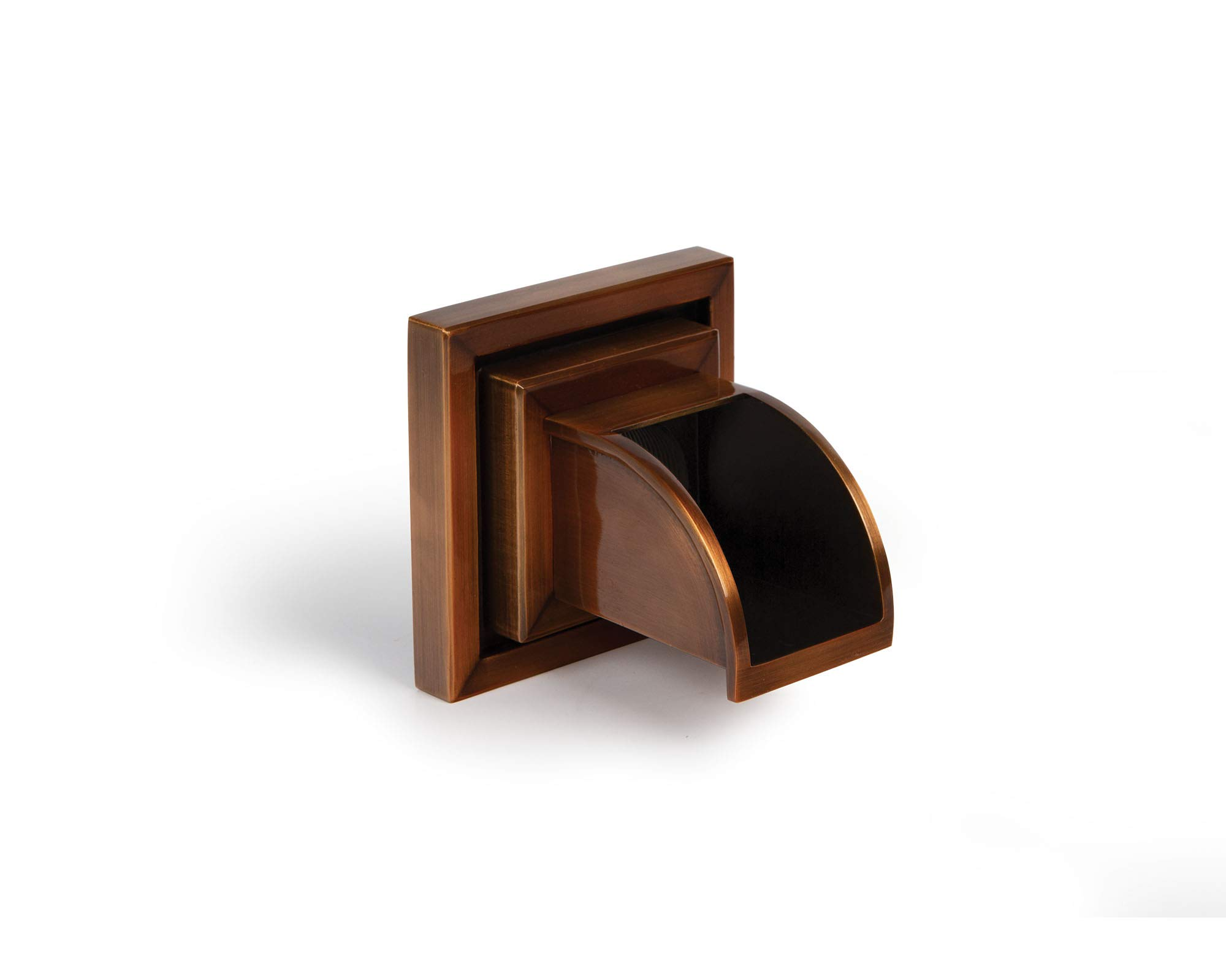 Atlantic Water Gardens Copper Finish Mantova Spillway Wall Spout Square - Spout with Square Wall Plate WSCM-S