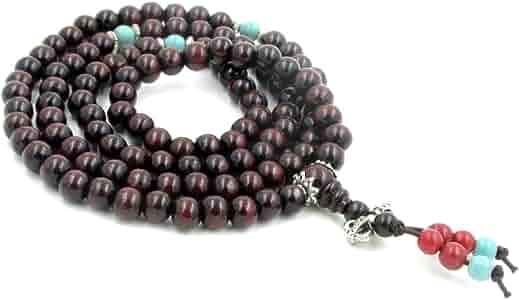Japa Mala Yoga Jewellery Gift Bag Buddhist Praying Beads Single Copy Peace Necklace 8 mm Rock Crystal 108 Mala Beads FIRST SNOWFLAKE